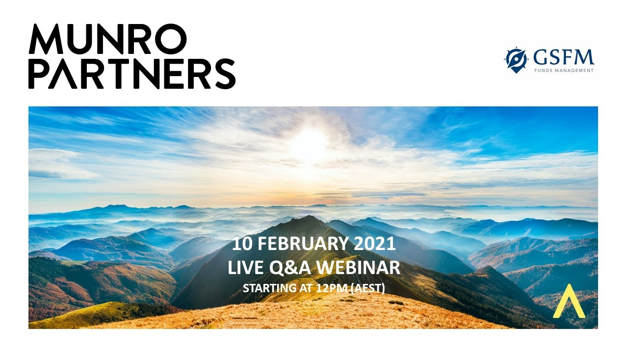 Munro Partners February 2021 Webinar